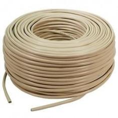 Cablu FTP cat 5e Freenet, lungime rola: 305m, retail, Bej, OEM (FRE-FTP5E)