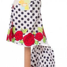 Haine dama - Rochita pentru fetite cu flori si buline - BBN1012