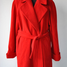 Palton dama - ANNE BROOKS PALTON ROSU DE FEMEI MARIMEA 12 -L/XL