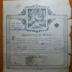 Revista/Ziar - Certificat botez 29 martie 1910