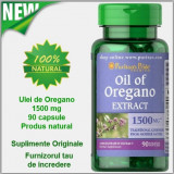 Supliment nutritiv - ULEI OREGANO 1500 mg 90 caps. Tratament Candida, Helicobacter Pylori, Reflux
