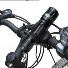 Set FAR Profi Pentru Bicicleta LED CREE LUXEON Lupa Zoom 3 Faze + Stop, Faruri si semnalizatoare