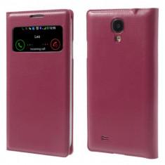 Husa protectie flip cover pentru Samsung Galaxy S4 - roz inchis - Husa Telefon