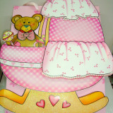 Aniversari copii - Punga / pungi cadou, 3 D, model bebe - botez, 35/31/10 cm, 1 buc