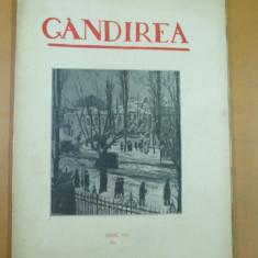 Revista culturale - Gandirea An VII Numarul 2 1927 Marius Bunescu Petre Yorgulescu - Ior