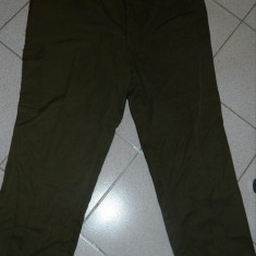 Pantaloni barbati, 2XL, Lungi, Poliester - Pantaloni de stofa, marime XXL, marimea 58, pentru barbati, dublati, khaki