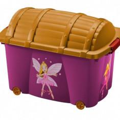Lada jucarii fetite cu printese 56 litri Cutie depozitare jucarii