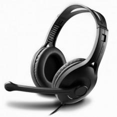 Edifier Casti EDIFIER Stereo, microfon pe casca, control volum pe fir, protectie ureche din piele, black, ' - Casti PC