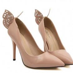 Pantofi dama - CH2265-15 Pantofi eleganti cu toc inalt si fluturas la spate