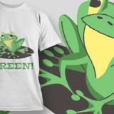 Be Green - Tricou barbati, Marime: S, M, L, XL, XXL, Culoare: Alb, Maneca scurta, Bumbac