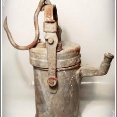 Metal/Fonta, Scule si unelte - LAMPĂ DE MINĂ / MINER PE CARBID, VECHE DIN 1972, PUȚIN FOLOSITĂ, FUNCȚIONALĂ!