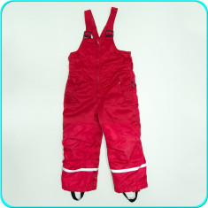 Pantaloni tip salopeta iarna, caldurosi, impermeabili H&M _ fete | 3-4 ani | 104, Culoare: Rosu