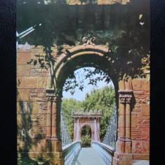 SEPT15-Vedere/Carte postala-Craiova-Podul suspendat din Parcul poporului - Carte Postala Banat dupa 1918, Necirculata, Printata