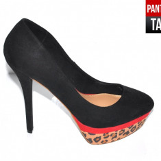 Pantofi dama - Bershka BlackLeopard (Marime: 39)