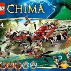 Nava Lego Chima 70006 Cragger's Command Ship Corabie nou sigilat 609 piese - LEGO Legends of Chima