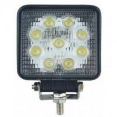 Proiector LED Auto Offroad 27W12V-24V, 1980 Lumeni, Patrat, Universal