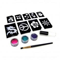 Set pentru tatuaje cu sclipici - Shimmer glitter tattoos - Masina tatuaje