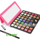 Trusa make up - Trusa Machiaj Profesionala 44 culori MAC #01 cu Ruj si Blush + CADOU Creion MAC