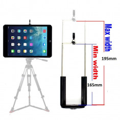 Suport adaptor tableta pentru trepied filet 1/4 universal pt Samsung Tab, iPAD