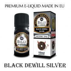 Aroma de tigara electronica-Black dewill silver ( VANILIE SI CIOCOLATA) 24 % nic - Tutun Pentru tigari de foi
