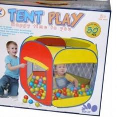 Cort de joaca cu 50 bile incluse - Casuta/Cort copii