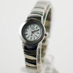 Ceas de Dama Rolex, Casual, Analog, Inox - OFERTA ceas dama ROLEX pe bratara inox (alb) NOU + BATERIE CADOU