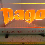 Reclama luminoasa cu adaptor 12 v,PAGO
