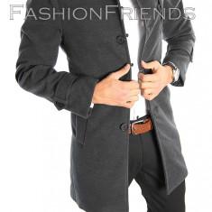 Palton tip ZARA gri - palton barbati - palton slim fit - STOC LIMITAT!- cod 2215