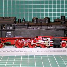 Macheta Feroviara, 1:87, HO, Locomotive - Locomotiva abur BR75582 marca Fleischmann scara HO(3854)