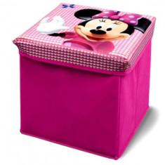 Taburet Si Cutie Depozitare Jucarii Disney Minnie Mouse - Set mobila copii