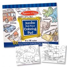Caiet Jumbo Cu Desene Pentru Colorat Melissa And Doug Albastru