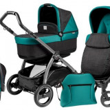 Carucior 3 In1 Book Plus S Black Pop-Up - Carucior copii 3 in 1 Peg Perego