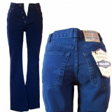Blugi dama - talie inalta - indigo - GASS jeans W 27 (Art. F39), Culoare: Albastru