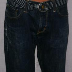 Blugi barbati CARHARTT Bronco Pant marimea W32, Culoare: Albastru, Lungi, Prespalat, Drepti, Normal