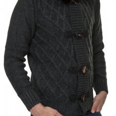 Jacheta-Pulover Tricotat Barbati Carisma Antracit 7169 - Pulover barbati Carisma, Marime: S, L, Culoare: Din imagine