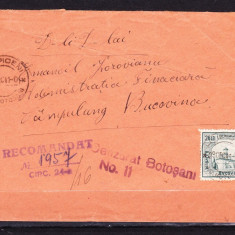 INTREG POSTAL ROMANIA 1941 = RIPICENI JUD. BOTOSANI - CAMPULUNG BUCOVINA
