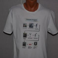 Tricou barbati ORIGINAL PENGUIN marimea M / L alb, Maneca scurta, Bumbac