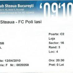 Bilet meci Steaua - Poli Iasi (2010)