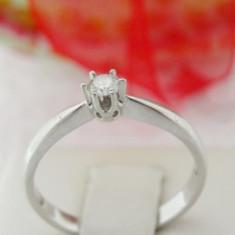Inel aur alb 14k, diamant de cca. 0.11 ct, 2.21 grame