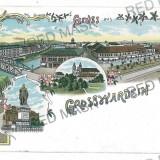 3049 - L i t h o, ORADEA, Synagogue - old postcard - used - 1898
