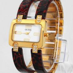CEAS DAMA GUESS ICONIC AMBER GOLD&DIAMONDS EDITION-SUPERB-COLECTIE 2016-REDUS !!, Fashion, Quartz, Placat cu aur, Placat cu aur, Rezistent la apa