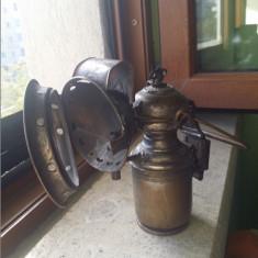 Unicat antica lampa cu carbid Hella 1900