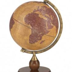 Glob pamantesc rotativ de birou cu stand din lemn si cadru de otel 33 cm