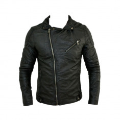 Geaca barbati Zara, Piele - Geaca Zara Man Boyfriend SlimFit Imblanita Cod Produs 9106