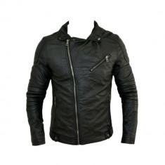 Geaca Zara Man Boyfriend SlimFit Model Primavara Cod Produs 9103 - Geaca barbati Zara, Marime: XL, XXL, Culoare: Negru, Piele