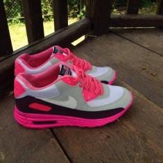 Adidasi dama - Adidasi Nike Air Max Hyperfuse 90 Femei Roz Albi Colorati Ieftini/Poze Reale!39
