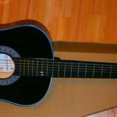 Chitara clasica incepatori cu corzi de metal si pana culoare negru