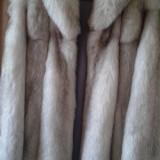 Palton dama - Haina blana vulpe polara superba!