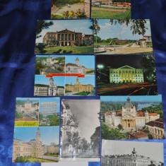 Carte Postala, Circulata, Fotografie, Romania de la 1950 - Lot 10 CP ARAD (Carti postale vechi, Vederi Romania)
