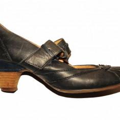 Pantofi Janet D., piele naturala, marime 36 calapod mediu - Pantofi dama